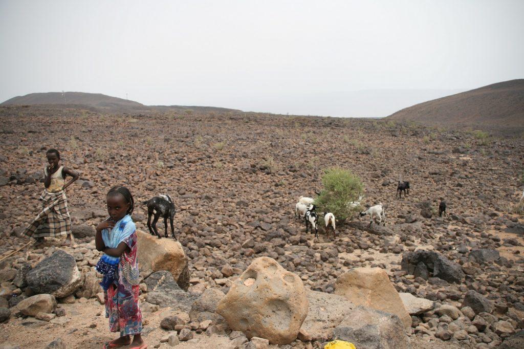 Landschaft Afar Ethiopia